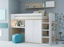 lit surélevé avec bureau lit mezzanine avec bureau pour enfant mixte up 2 74 ros