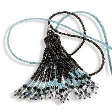 beaded tassel necklace images Handmade black beaded tassel necklace anthos jewellery anthos jpg