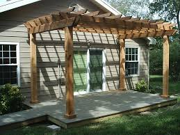 Pergola Corner Designs by Exterior Corner Wooden Pergola Plans Over Vintage Outdoor Dining