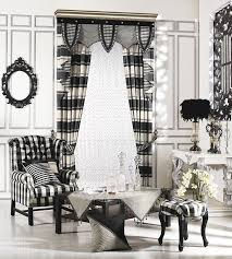 Black And White Checkered Curtains Black And White Plaid Curtains Decorating With Black And