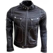 leather moto jacket mens black leather moto jacket designer slim fit fashionable jacket