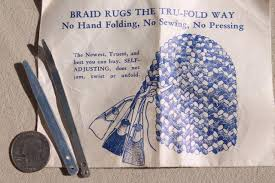 How To Make Braided Rug Lot Of Rug Making Tools Cones U0026 Instruction Leaflet To Make