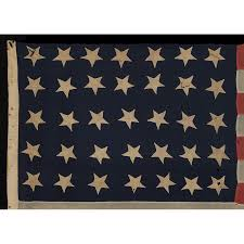 Virginia Flags Jeff Bridgman Antique Flags And Painted Furniture 35 Stars