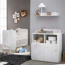 meubles chambre bébé meuble à langer 11 indogate chambre de bebe princesse mineral bio