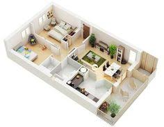 Two Bedroom House Plans by 50 One U201c1 U201d Bedroom Apartment House Plans Studio Apartment Floor