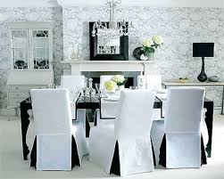 Covered Dining Room Chairs White Slipcover Dining Chair Dining Room The Best Chair Slipcovers
