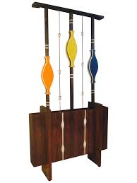 mid century modern art screen room divider plant chairish