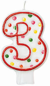 number birthday candles number 3 polka dot birthday candle 2 order