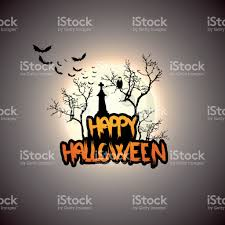 creepy halloween background with full moon and scary mysterious