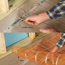 warm up cold floors with heating cables basement additions