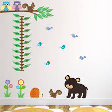 woodland animals height chart wall sticker by mirrorin woodland animals height chart wall sticker