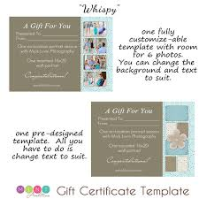 9 best images of free photography gift certificate template