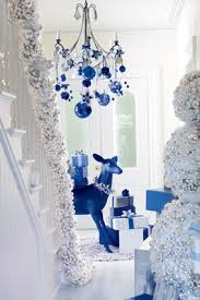 Christmas Decorations Blue And Silver by Holiday Spin