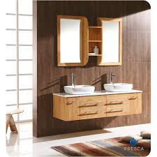 Fresca FVNNW Bellezza Modern Double Vessel Sink Bathroom - Bathroom vanities double vessel sink