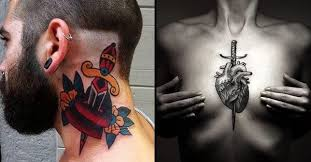 the classic heart dagger tattoo tattoodo