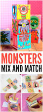printable monsters mix and match cubes easy peasy and fun