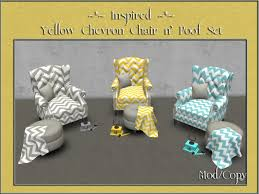 Chevron Armchair Second Life Marketplace Inspired Yellow Chevron Chair N