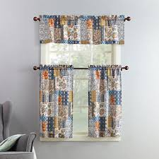 Kitchen Curtains Blue Blue Kitchen Curtains For Window Jcpenney