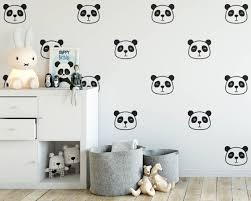 stickers panda chambre bébé bande dessinée mignon panda visage stickers muraux autocollants