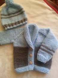 handmade knitted sweater cardigan set for baby boy knitting for