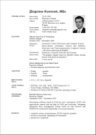 Resume Curriculum Vitae Example by 4 Curriculum Vitae Word Care Giver Resume