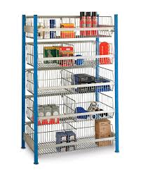 Wire Storage Unit Shelving Unit With Integrated Wire Storage Baskets