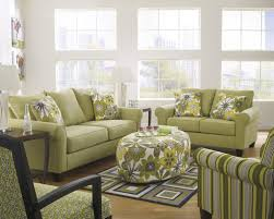 Green Laminate Flooring Green Sleeper Sofa Sectional With Floral Pattern Cushions Plus