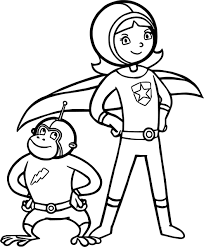 captain and captain monkey coloring page wecoloringpage