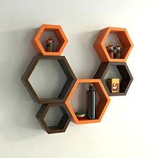 designer shelves decoration designer shelves fresh decoration hexagon wall shelf set