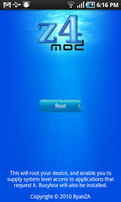 one click root apk z4root is one click root app for samsung galaxy s android phones