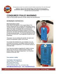 consumer fraud bureau consumer fraud alert from imperial department dig
