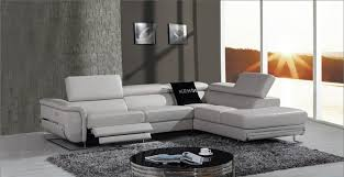 sofa magnificent modern leather sectional sofa with recliners