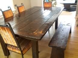 Unique Rustic Dining Room Sets  Dining Chairs With Bench Above - Dining room table bench