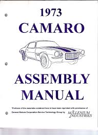 1973 73 camaro factory assembly manual z28 ss rs 386 pages