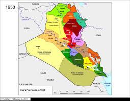 map of irak musings on iraq
