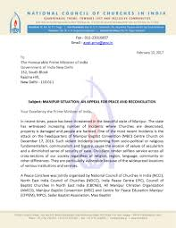 Disability Appeal Letter Ncci Manipur Situation Appeal Letters To Prime Minister And