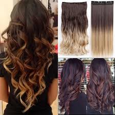 ombre hair extensions clip in s noilite curly 23 inches clip in ombre hair extensions black