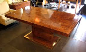 burl wood dining room table 1970s burlwood pedestal dining table sold white trash nyc