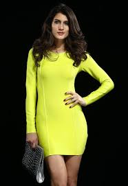 evening women bodycon cocktail party lime green long sleeve