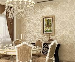 Dining Room Idea Damask Wallpaper Dining Room Ideas Dining Room Design