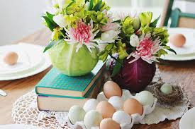 Quick Easter Table Decorations by A Simple Easter Centerpiece The Merrythought