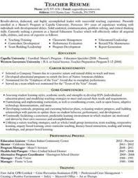 examples of resumes for education jobs google search random