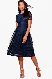 boutique zaira full skirted prom midi dress boohoo