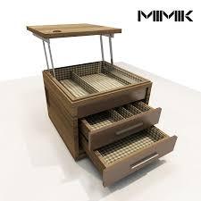 Space Saving Laptop Desk Mimik Side Table And Laptop Desk Concept By Rodrigo Jaroseski