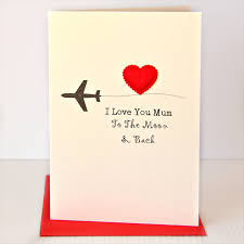 i love you mum moon and back card happy birthday mothers mother u0027s