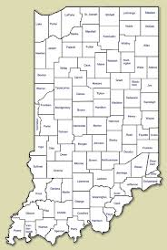 map of indiana by county indiana map