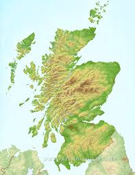 Map Of England And Scotland by Scotland Physical Map