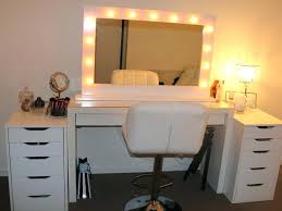 bedroom vanity makeup table lighted mirror within bedroom vanity with lights plans