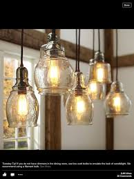 pottery barn kitchen lighting paxton hand blown glass 8 light pendant 10 ceiling pottery barn