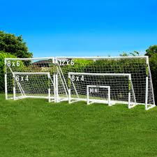 6 x 4 forza football goal and net locking net world football